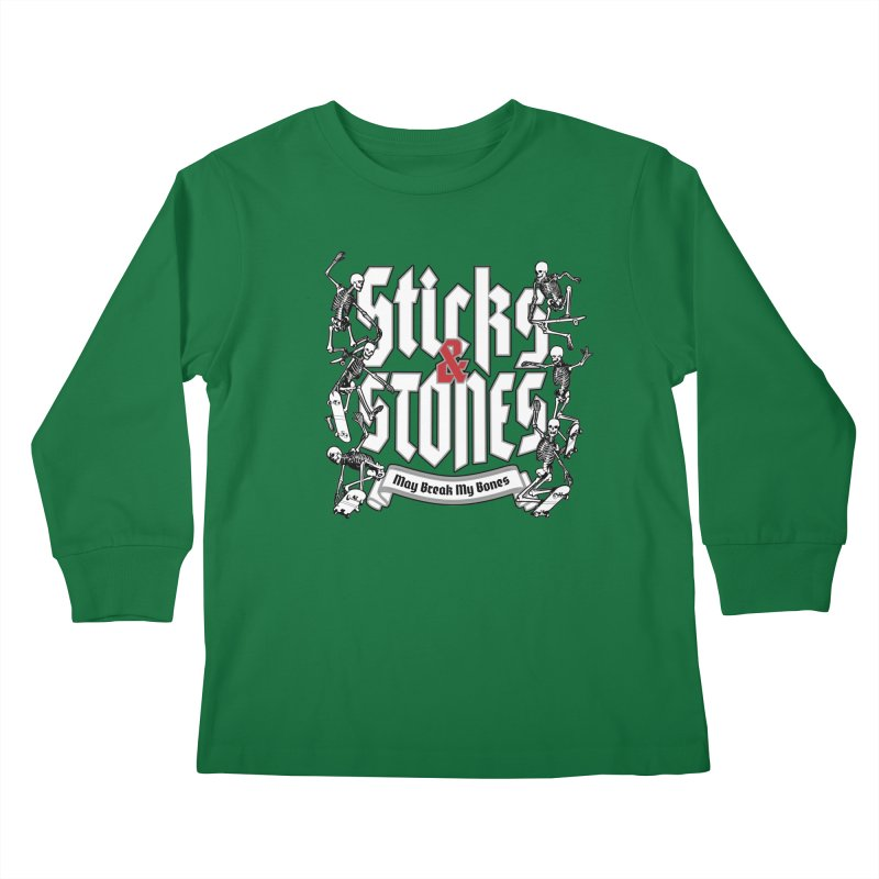 Sticks and Stones Kids Longsleeve T-Shirt by Grandio Design Artist Shop