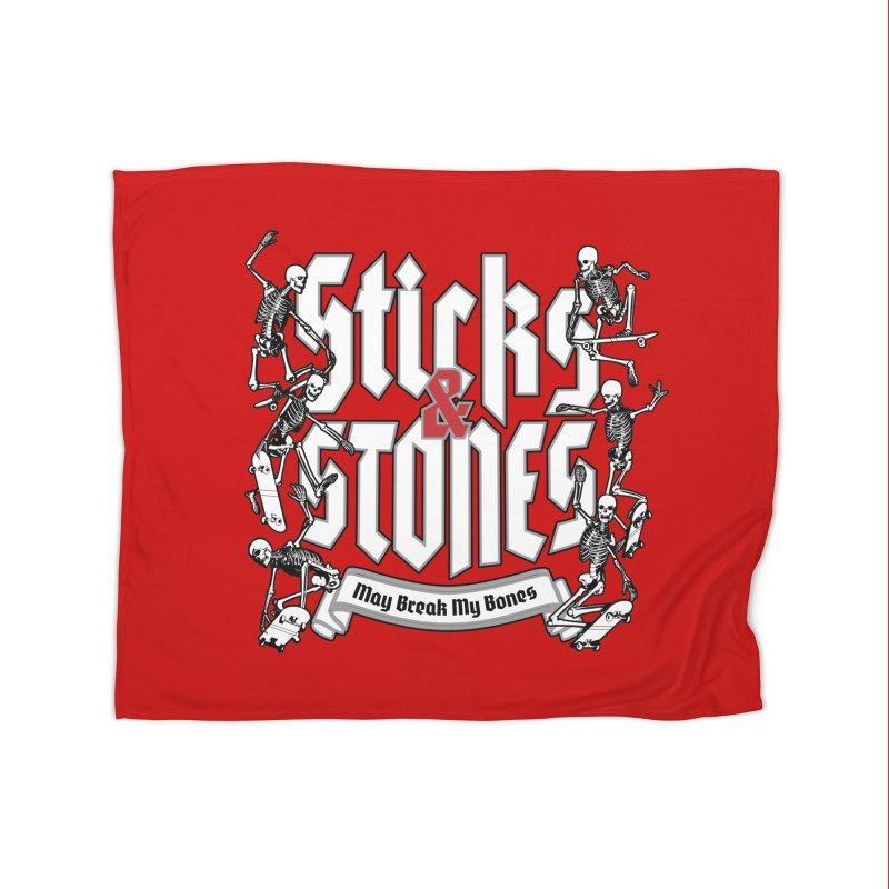 Sticks and Stones Home Blanket by Grandio Design Artist Shop