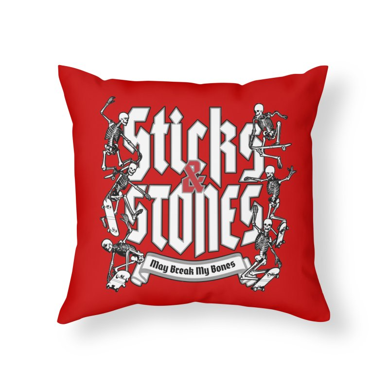 Sticks and Stones Home Throw Pillow by Grandio Design Artist Shop