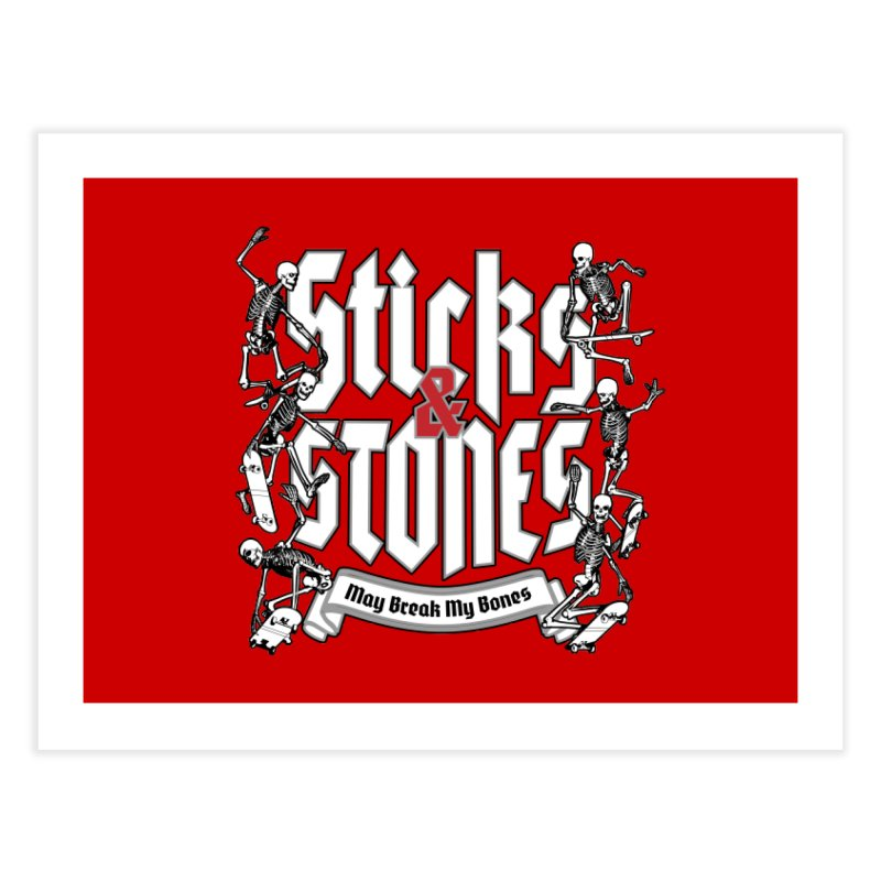 Sticks and Stones Home Fine Art Print by Grandio Design Artist Shop