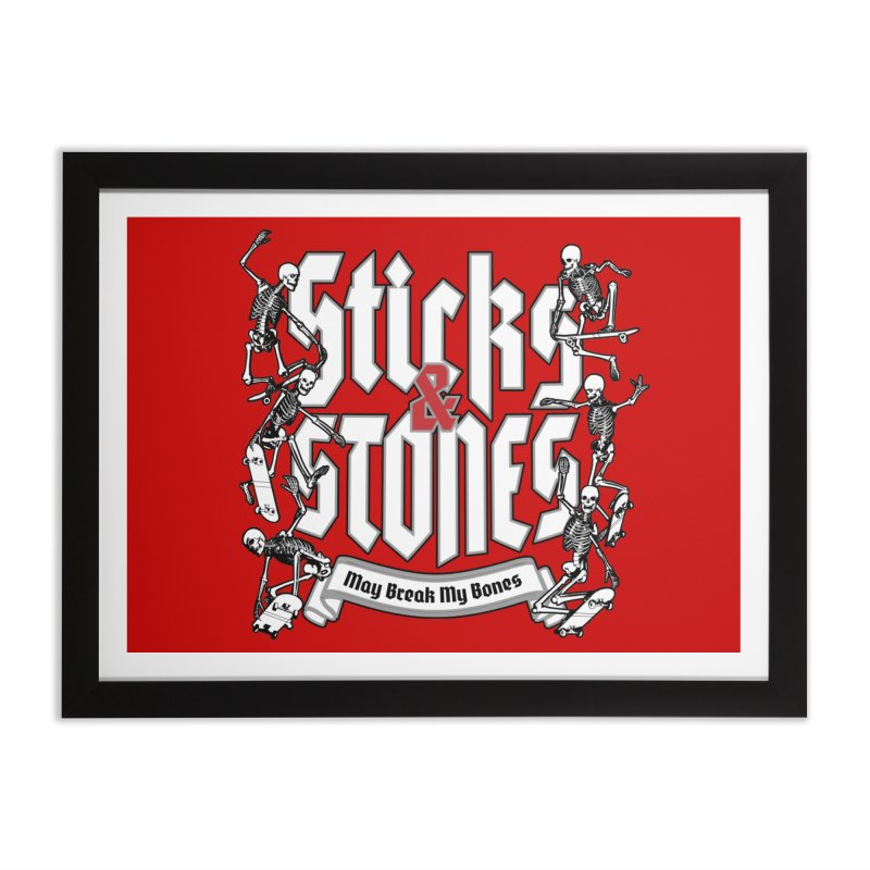 Sticks and Stones Home Framed Fine Art Print by Grandio Design Artist Shop