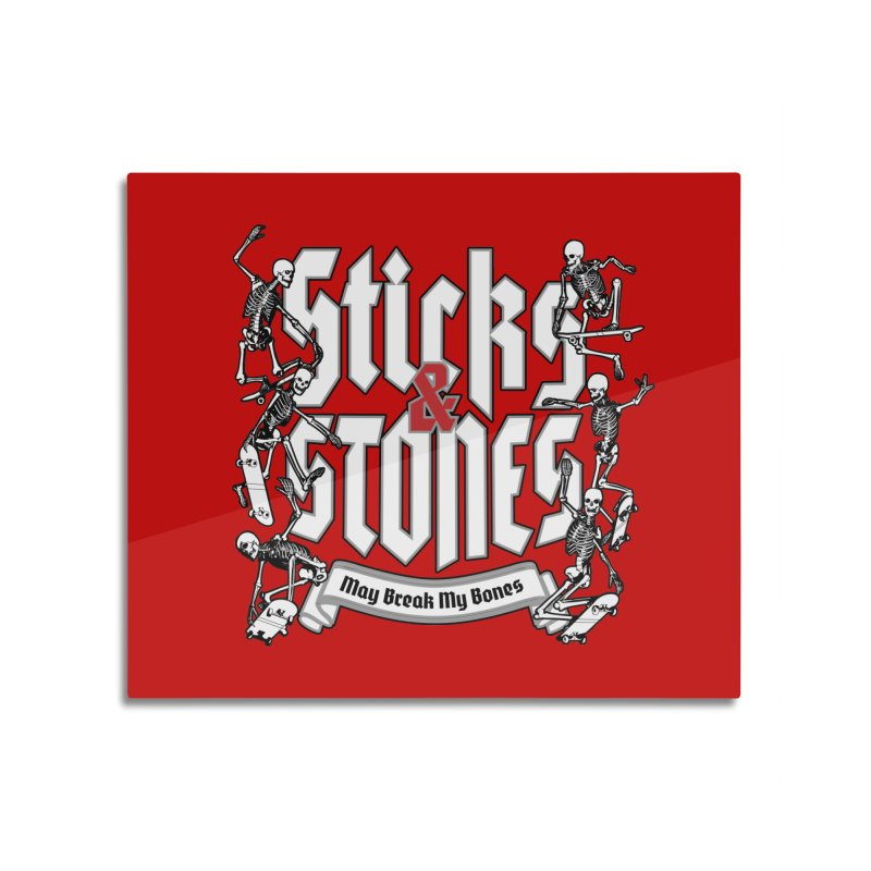 Sticks and Stones Home Mounted Aluminum Print by Grandio Design Artist Shop
