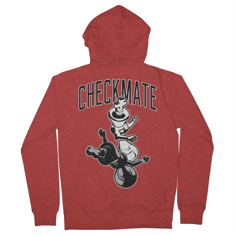 Checkmate Punch Funny Boxing Chess Women's French Terry Zip-Up Hoody by Grandio Design Artist Shop