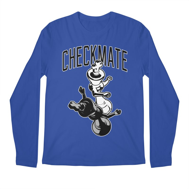 Checkmate Punch Funny Boxing Chess Men's Regular Longsleeve T-Shirt by Grandio Design Artist Shop