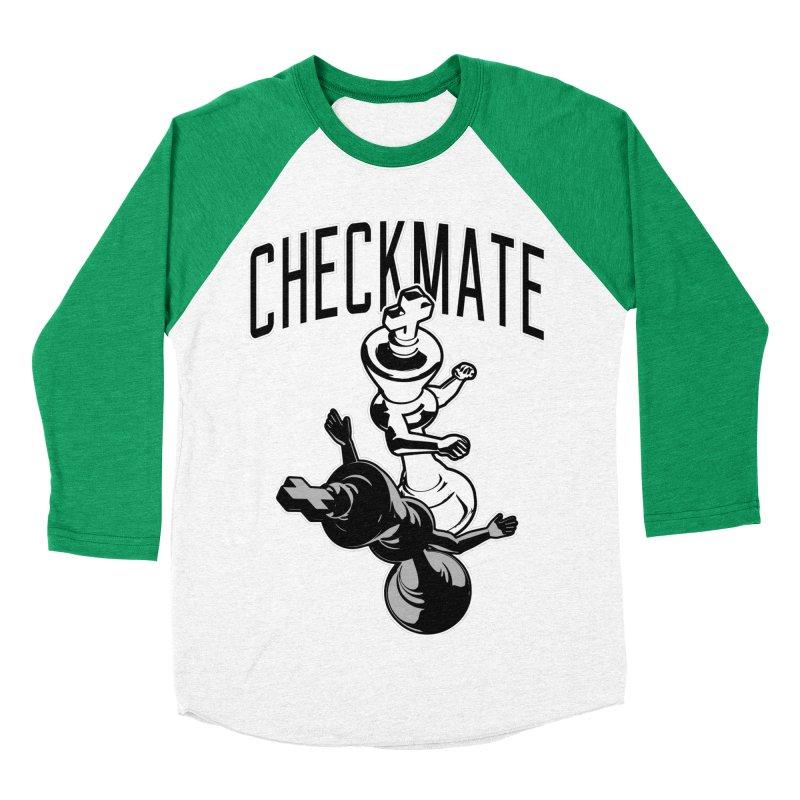 Checkmate Punch Funny Boxing Chess Women's Baseball Triblend Longsleeve T-Shirt by Grandio Design Artist Shop