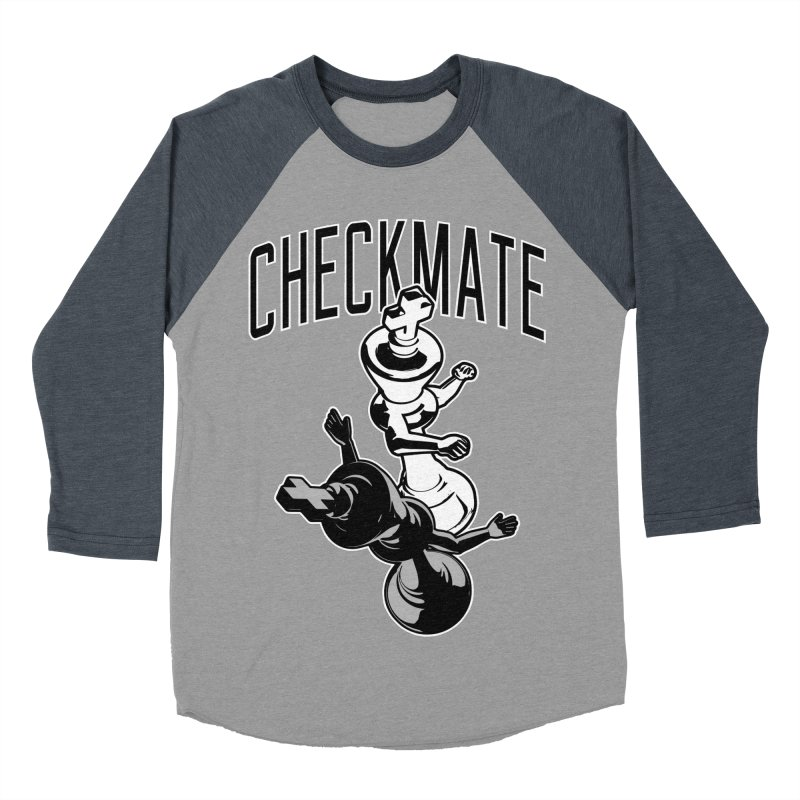Checkmate Punch Funny Boxing Chess Women's Baseball Triblend Longsleeve T-Shirt by Grandio Design Artist Shop