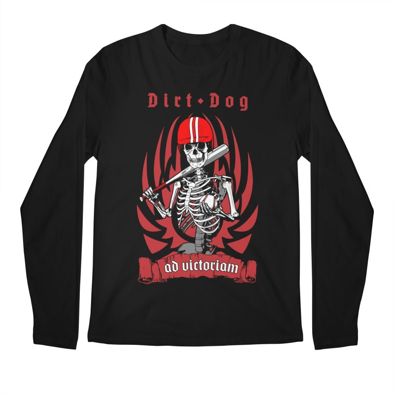 Dirt Dog Baseball Player Skeleton Men's Regular Longsleeve T-Shirt by Grandio Design Artist Shop