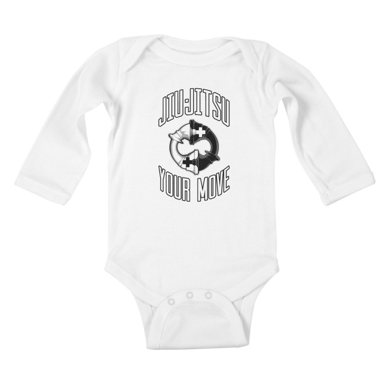 Brazilian Jiu-jitsu Chess Kings Kids Baby Longsleeve Bodysuit by Grandio Design Artist Shop