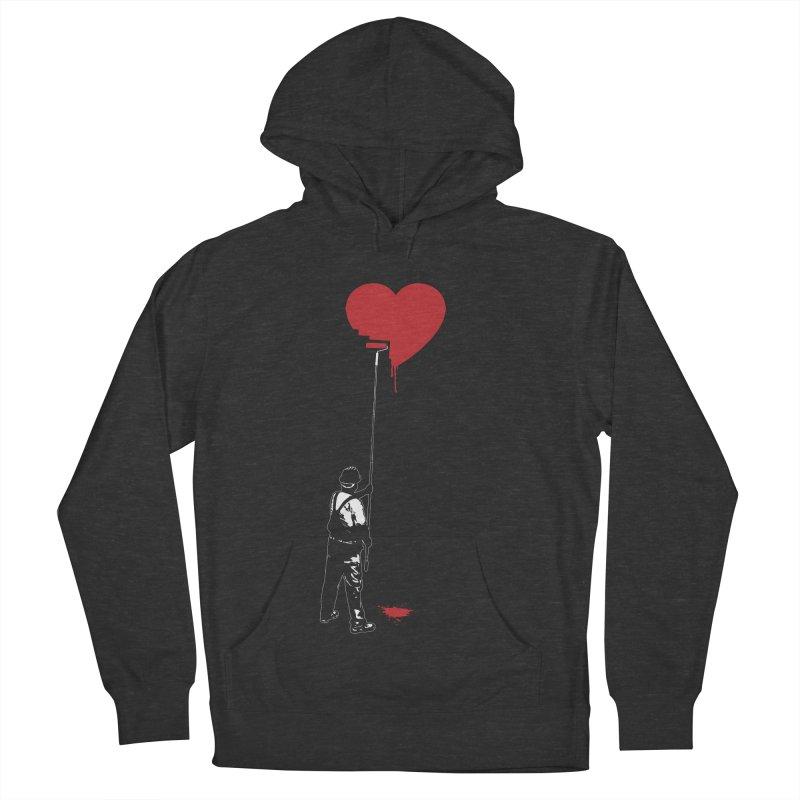 Heart Painter Graffiti Love Women's French Terry Pullover Hoody by Grandio Design Artist Shop