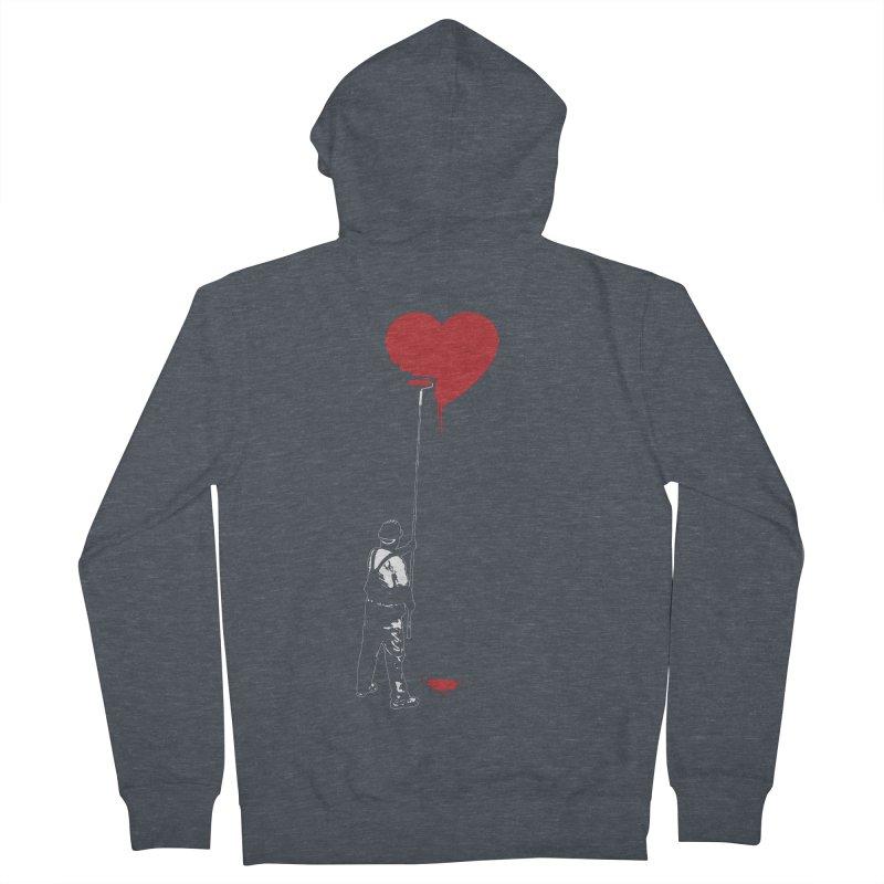 Heart Painter Graffiti Love Women's French Terry Zip-Up Hoody by Grandio Design Artist Shop