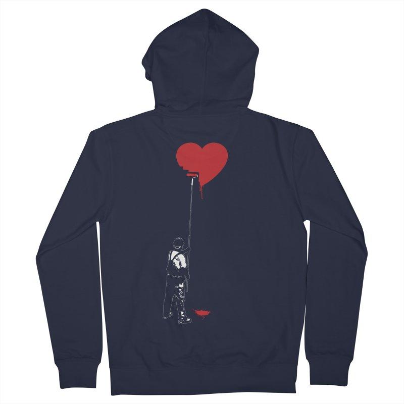 Heart Painter Graffiti Love Men's French Terry Zip-Up Hoody by Grandio Design Artist Shop