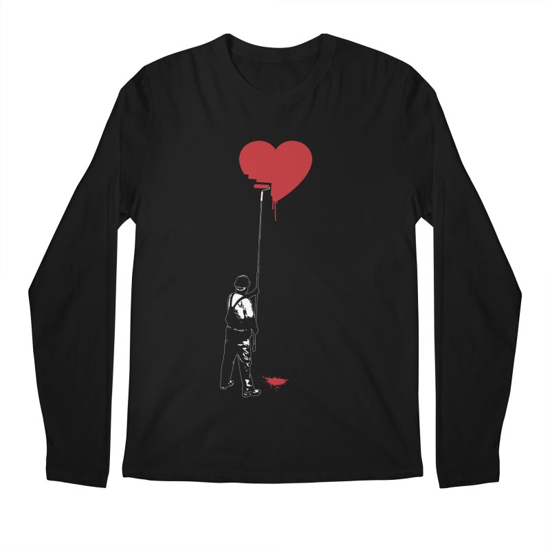 Heart Painter Graffiti Love Men's Regular Longsleeve T-Shirt by Grandio Design Artist Shop