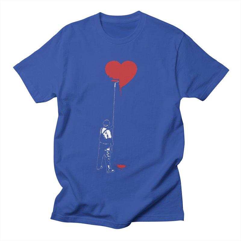 Heart Painter Graffiti Love Women's Regular Unisex T-Shirt by Grandio Design Artist Shop