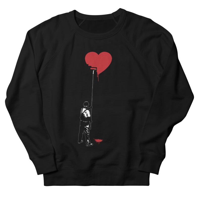 Heart Painter Graffiti Love Men's French Terry Sweatshirt by Grandio Design Artist Shop