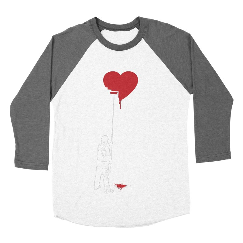 Heart Painter Graffiti Love Women's Baseball Triblend Longsleeve T-Shirt by Grandio Design Artist Shop