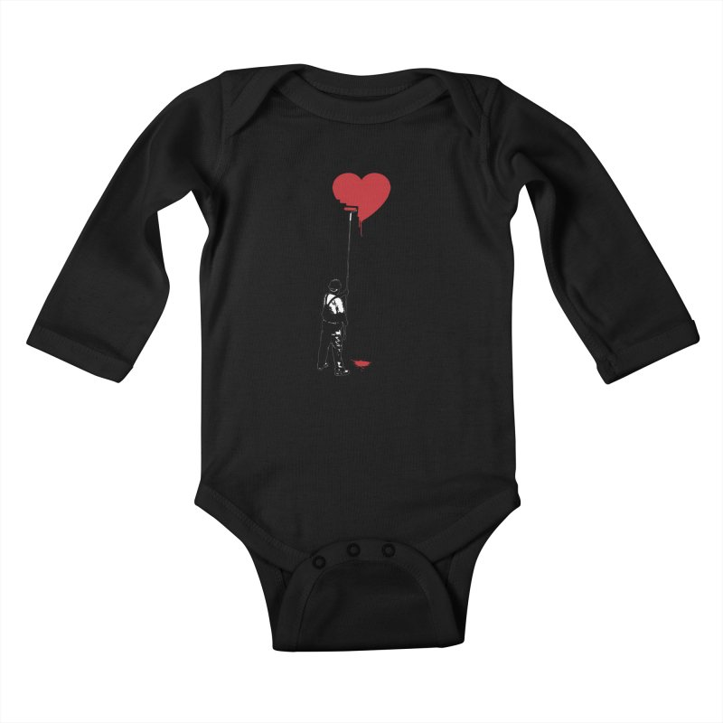 Heart Painter Graffiti Love Kids Baby Longsleeve Bodysuit by Grandio Design Artist Shop