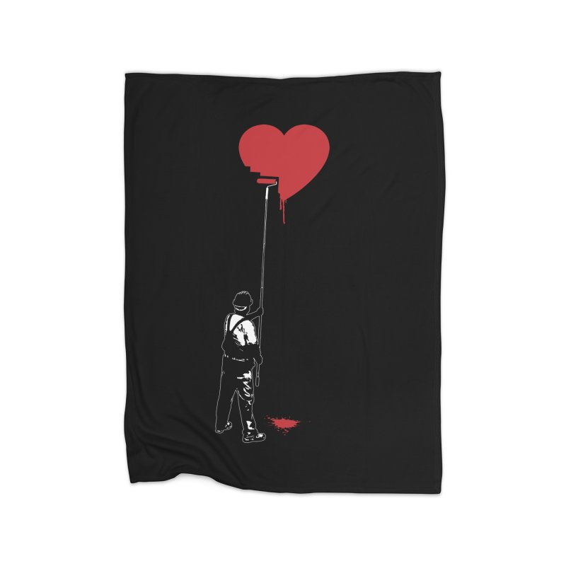 Heart Painter Graffiti Love Home Blanket by Grandio Design Artist Shop