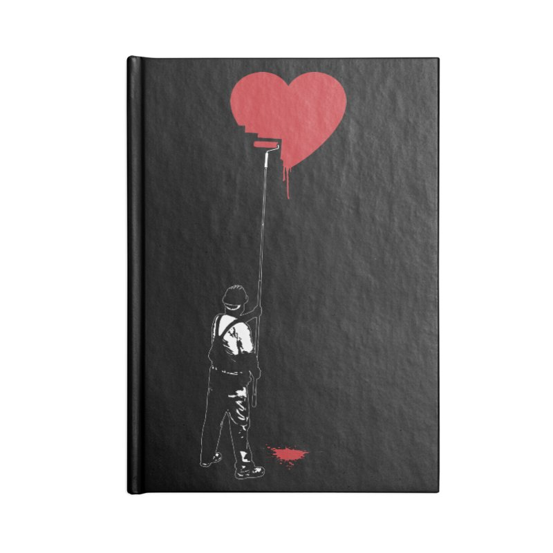 Heart Painter Graffiti Love Accessories Notebook by Grandio Design Artist Shop