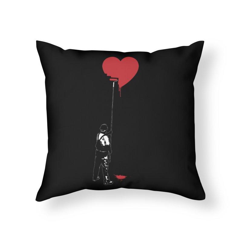 Heart Painter Graffiti Love Home Throw Pillow by Grandio Design Artist Shop