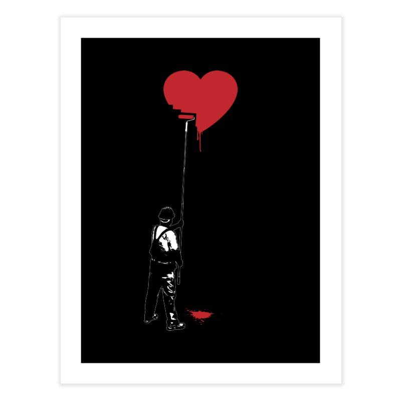 Heart Painter Graffiti Love Home Fine Art Print by Grandio Design Artist Shop