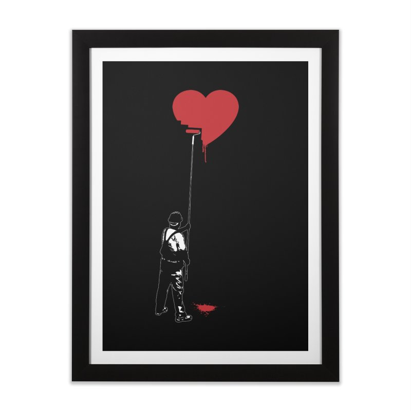 Heart Painter Graffiti Love Home Framed Fine Art Print by Grandio Design Artist Shop