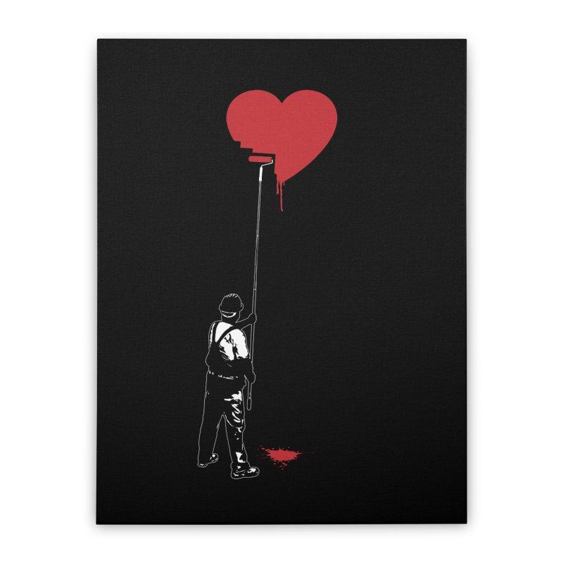 Heart Painter Graffiti Love Home Stretched Canvas by Grandio Design Artist Shop