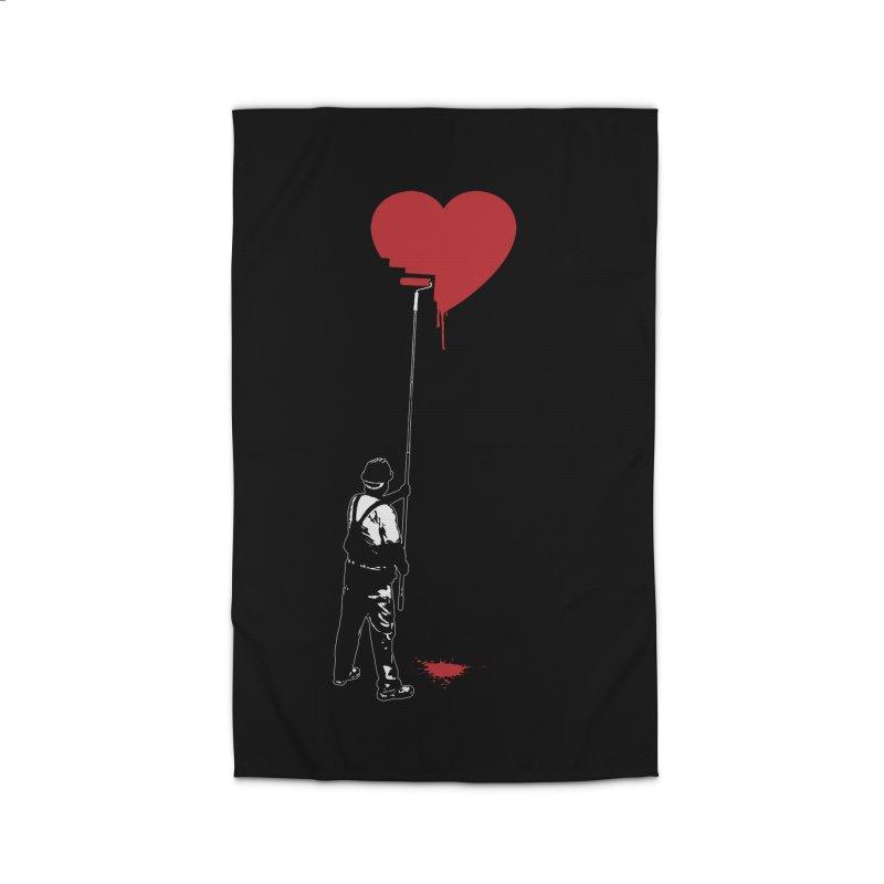 Heart Painter Graffiti Love Home Rug by Grandio Design Artist Shop