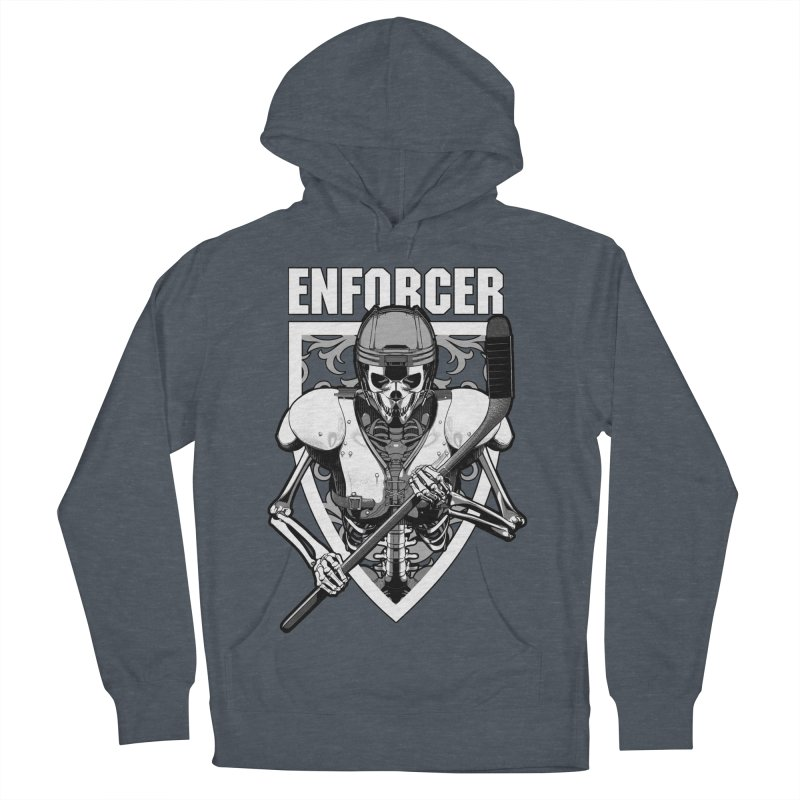 Enforcer Ice Hockey Player Skeleton Women's French Terry Pullover Hoody by Grandio Design Artist Shop