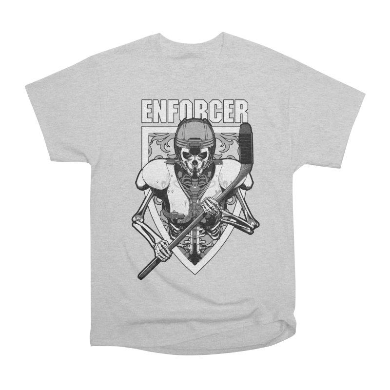 Enforcer Ice Hockey Player Skeleton Women's Heavyweight Unisex T-Shirt by Grandio Design Artist Shop