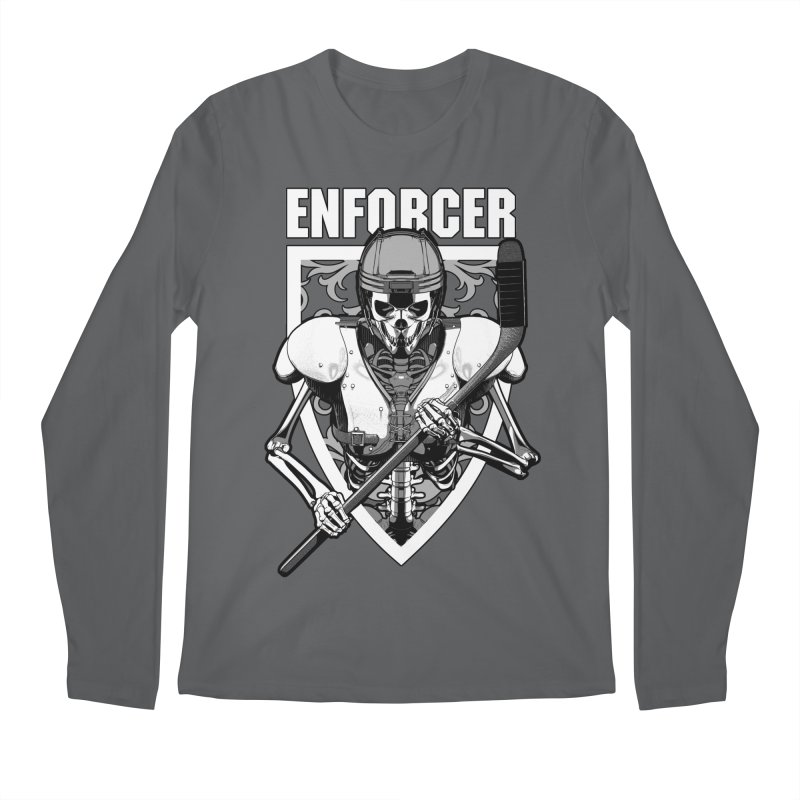 Enforcer Ice Hockey Player Skeleton Men's Regular Longsleeve T-Shirt by Grandio Design Artist Shop