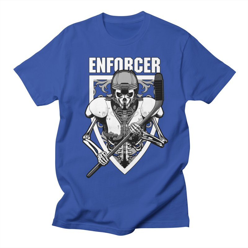Enforcer Ice Hockey Player Skeleton Women's Regular Unisex T-Shirt by Grandio Design Artist Shop