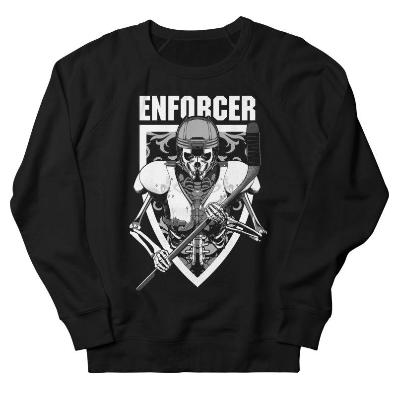 Enforcer Ice Hockey Player Skeleton Men's French Terry Sweatshirt by Grandio Design Artist Shop
