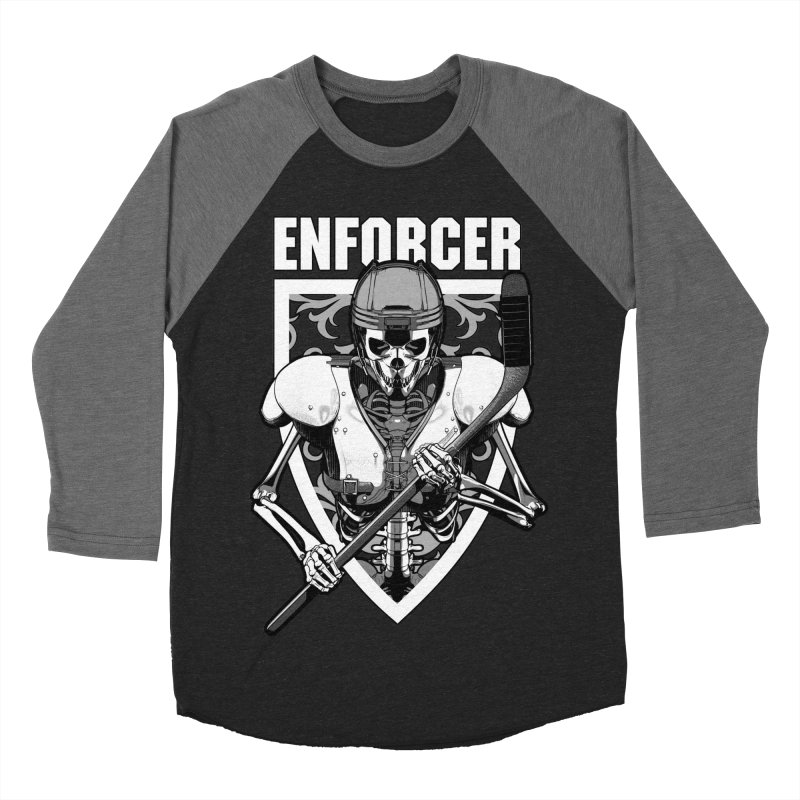 Enforcer Ice Hockey Player Skeleton Women's Baseball Triblend Longsleeve T-Shirt by Grandio Design Artist Shop