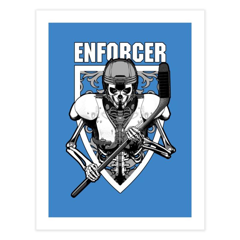 Enforcer Ice Hockey Player Skeleton Home Fine Art Print by Grandio Design Artist Shop