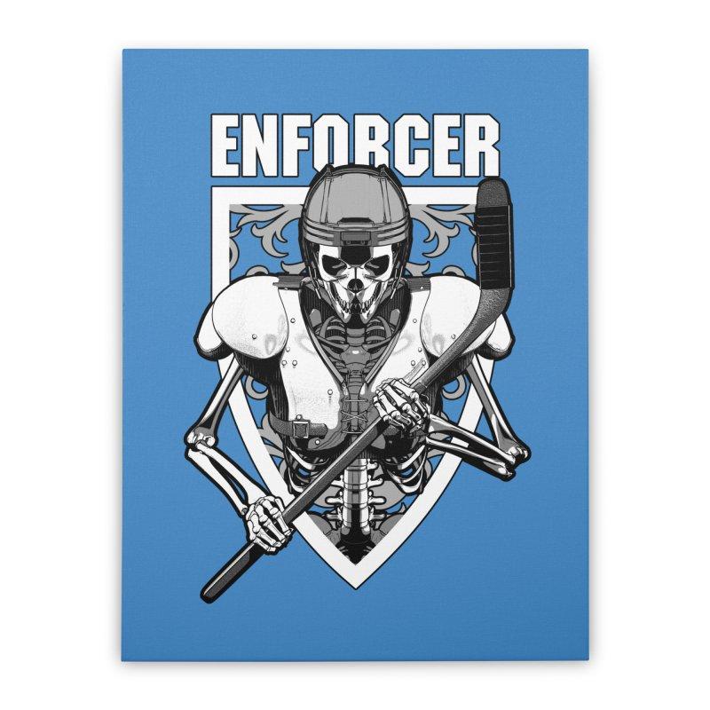 Enforcer Ice Hockey Player Skeleton Home Stretched Canvas by Grandio Design Artist Shop
