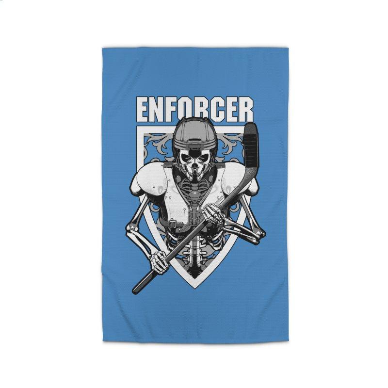 Enforcer Ice Hockey Player Skeleton Home Rug by Grandio Design Artist Shop
