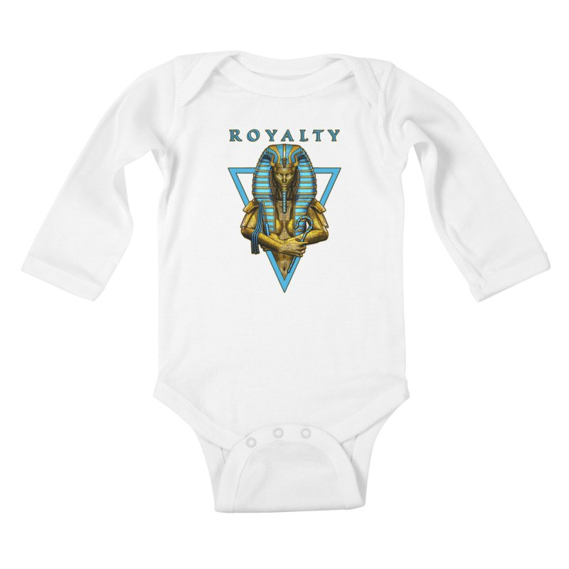 Sacred Queen Kids Baby Longsleeve Bodysuit by Grandio Design Artist Shop