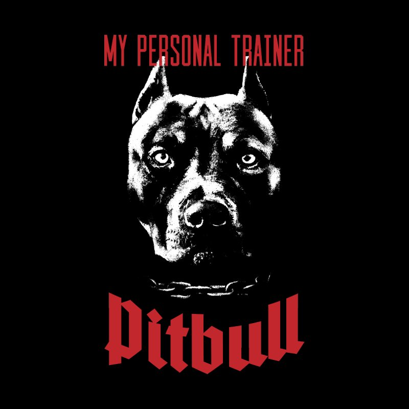 Pitbull My Personal Trainer Home Shower Curtain by Grandio Design Artist Shop