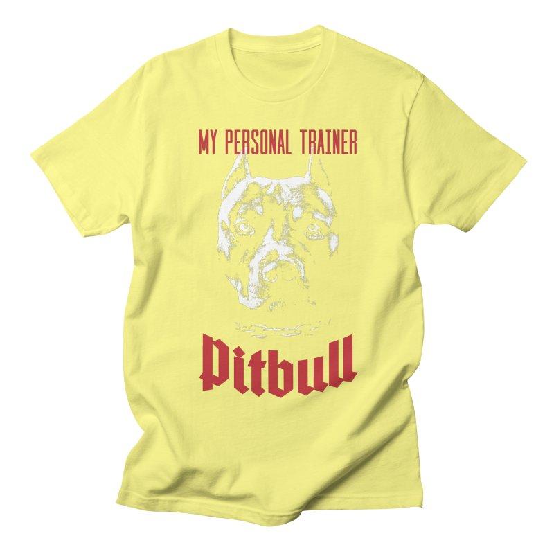Pitbull My Personal Trainer Women's Regular Unisex T-Shirt by Grandio Design Artist Shop