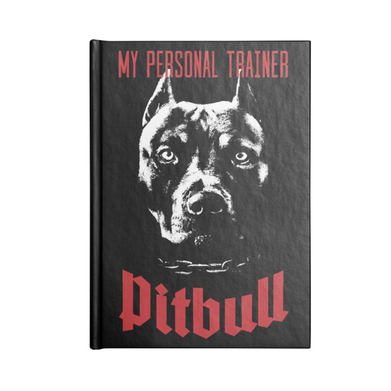Pitbull My Personal Trainer Accessories Notebook by Grandio Design Artist Shop