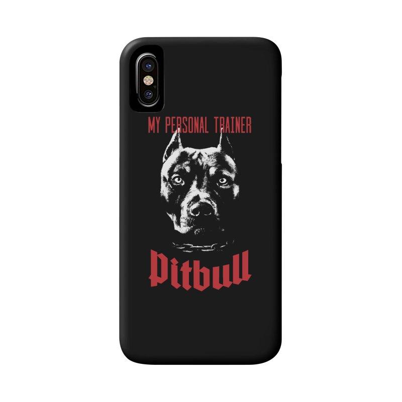 Pitbull My Personal Trainer Accessories Phone Case by Grandio Design Artist Shop