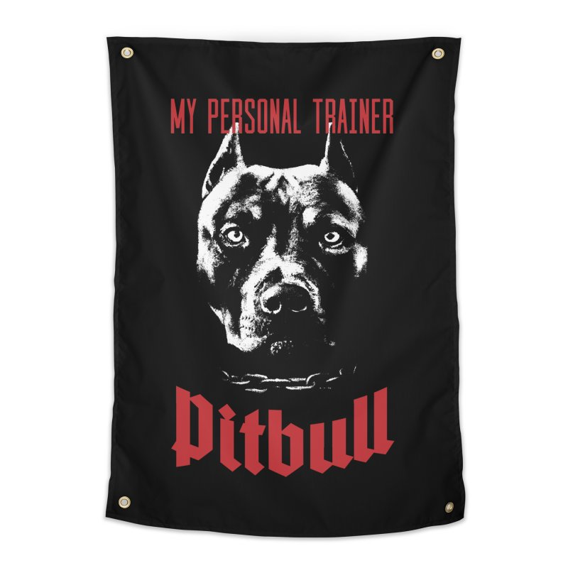 Pitbull My Personal Trainer Home Tapestry by Grandio Design Artist Shop