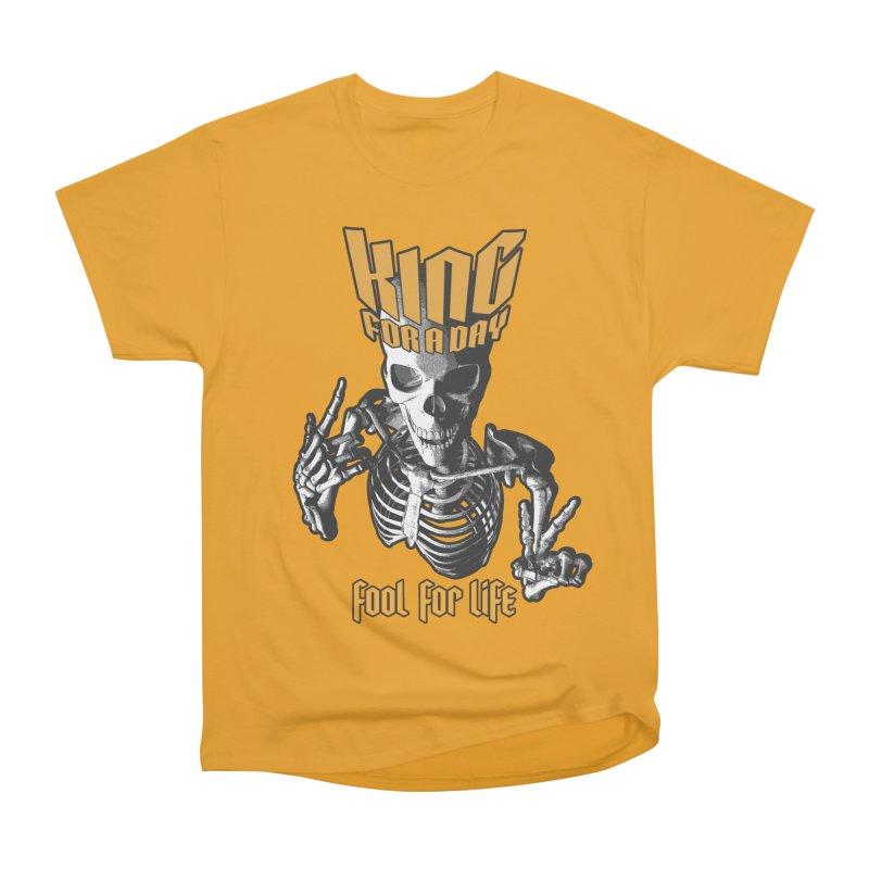 King For A Day Skull Women's Heavyweight Unisex T-Shirt by Grandio Design Artist Shop