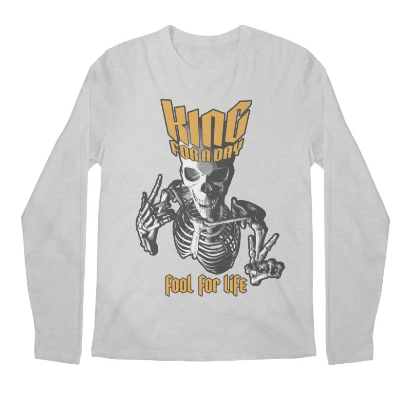 King For A Day Skull Men's Regular Longsleeve T-Shirt by Grandio Design Artist Shop
