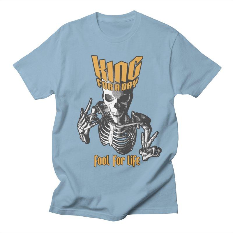 King For A Day Skull Women's Regular Unisex T-Shirt by Grandio Design Artist Shop