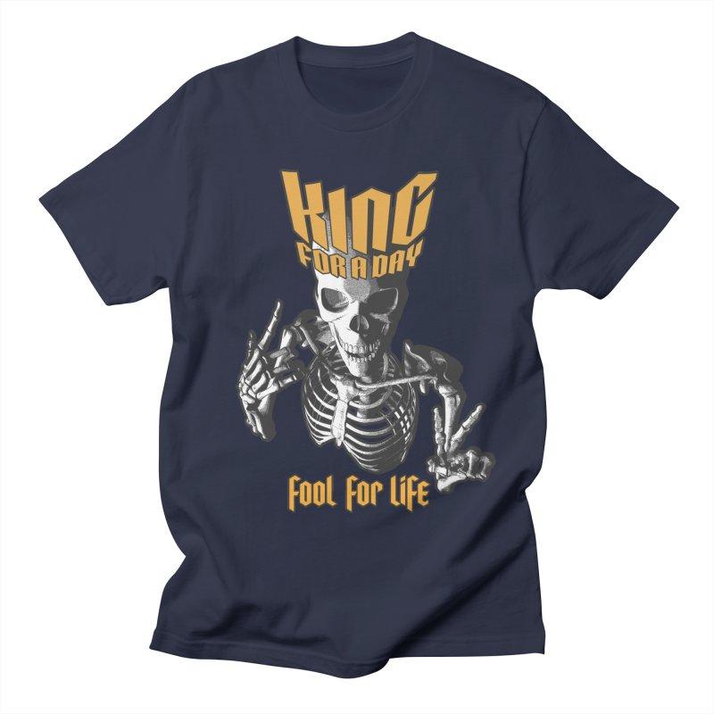King For A Day Skull Men's Regular T-Shirt by Grandio Design Artist Shop