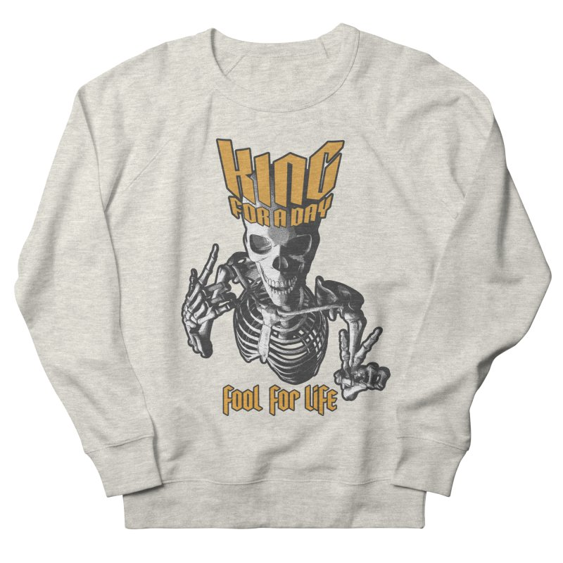 King For A Day Skull Men's French Terry Sweatshirt by Grandio Design Artist Shop