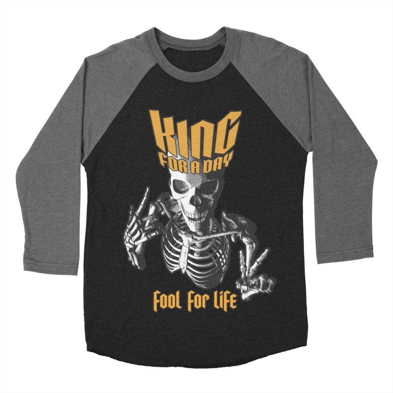 King For A Day Skull Men's Baseball Triblend Longsleeve T-Shirt by Grandio Design Artist Shop