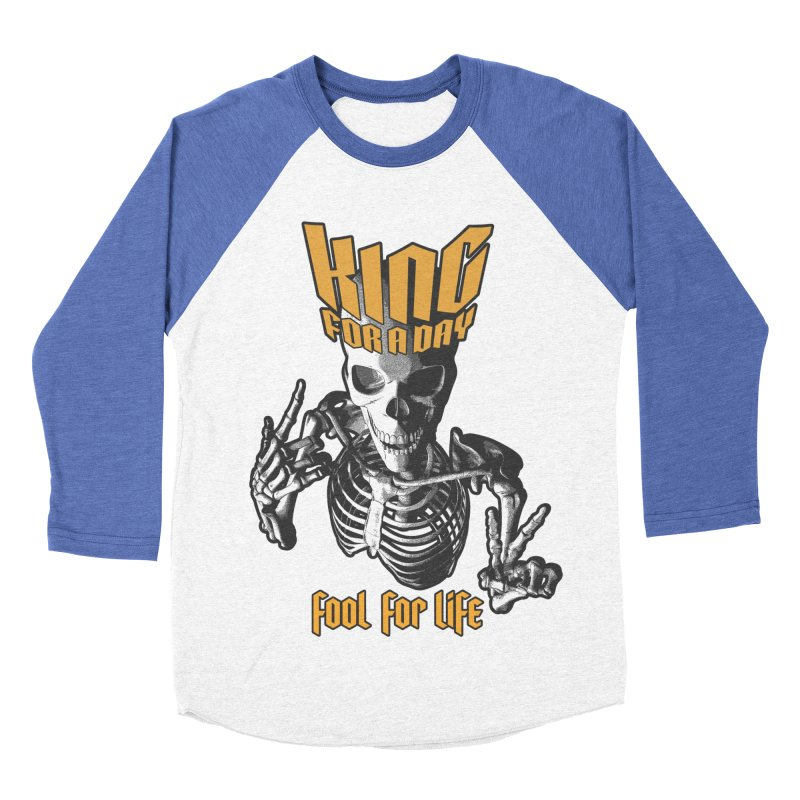 King For A Day Skull Men's Baseball Triblend Longsleeve T-Shirt by Grandio Design Artist Shop