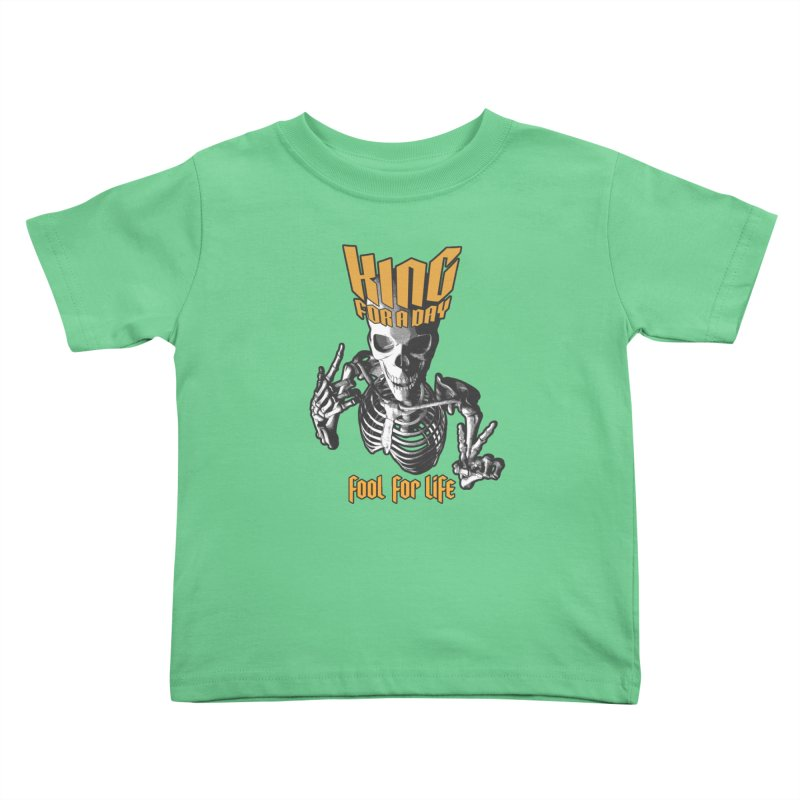 King For A Day Skull Kids Toddler T-Shirt by Grandio Design Artist Shop